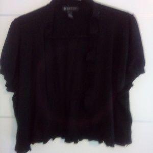 Inc sweater bolero 2x black